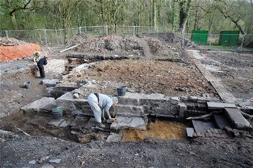 Mellor Mill excavations in 2009